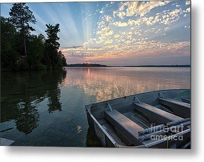 Minnesota Sunset At Deer Lake Metal Print by Kari Yearous