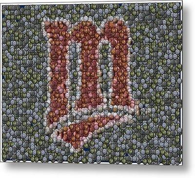 Minnesota Twins Baseball Mosaic Metal Print