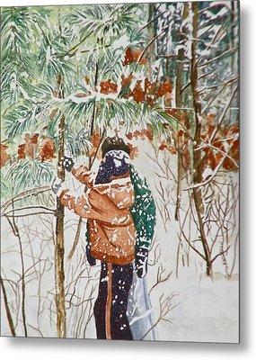 Minnesota Winter Metal Print by Terry Honstead
