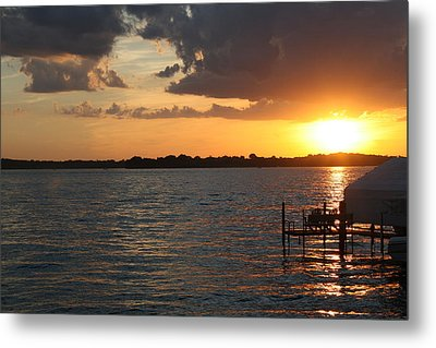 Minnetonka Sunset Metal Print by Noah Dachis