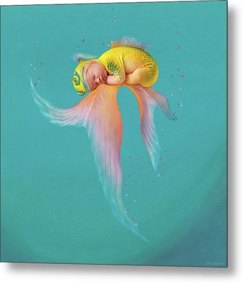 Mira As A Tropical Fish Metal Print