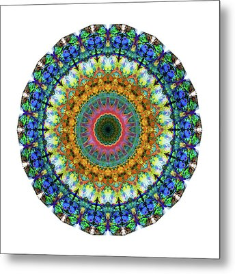 Miracle Mandala Art By Sharon Cummings Metal Print by Sharon Cummings