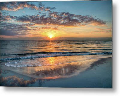 Metal Print featuring the photograph Mirror At Sunrise by Debra and Dave Vanderlaan