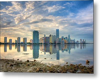 Mirror City Metal Print