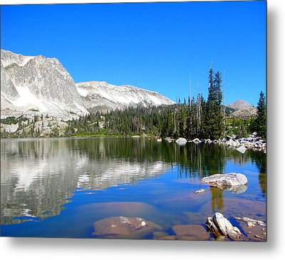 Mirror Lake Wyoming Metal Print by Kristina Chapman