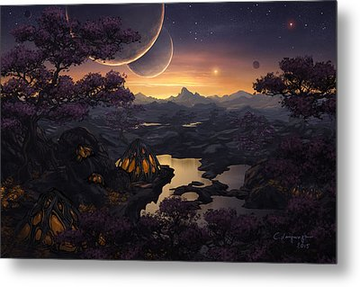 Mirror Lakes Metal Print by Cassiopeia Art