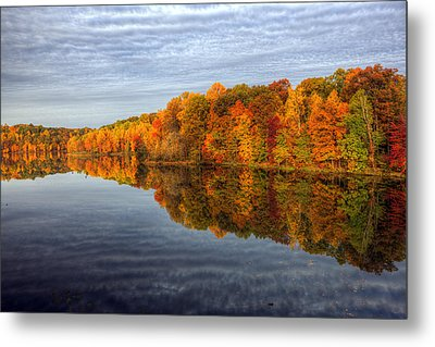 Mirror Mirror On The Fall Metal Print by Edward Kreis