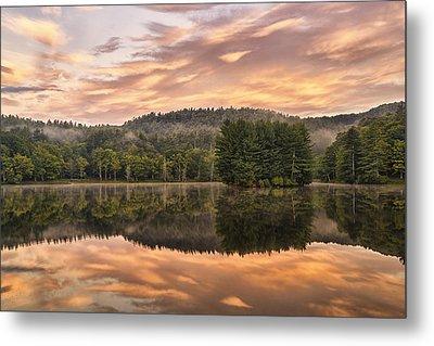 Bass Lake Sunrise - Moses Cone Blue Ridge Parkway Metal Print