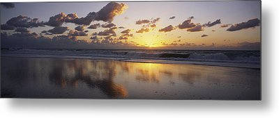Mirrored Mexico Sunset Metal Print by Bill Schildge - Printscapes