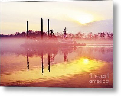 Mirrors - Delaware River Series Metal Print
