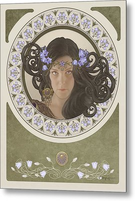 Miss Bluebell Metal Print by Cassiopeia Art