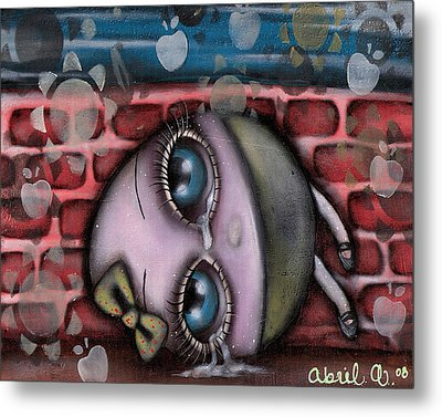 Miss Humpty Dumpty Metal Print by  Abril Andrade Griffith