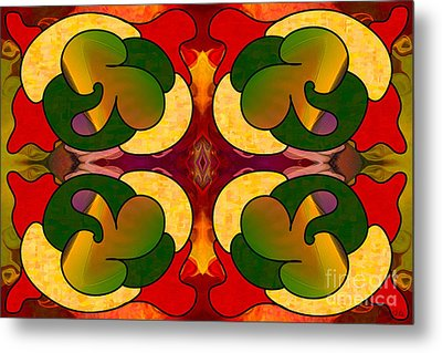 Missing Pieces Abstract Art By Omashte Metal Print by Omaste Witkowski