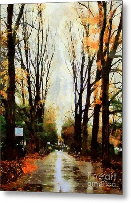 Metal Print featuring the photograph Missing You - Rainy Day Park by Janine Riley