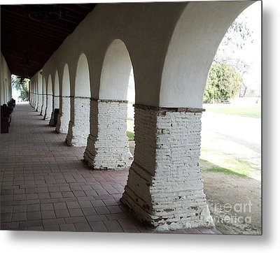 Mission Arches Metal Print