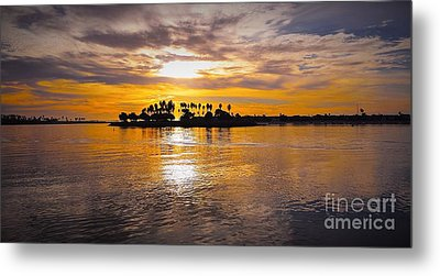 Mission Bay Purple Sunset By Jasna Gopic Metal Print