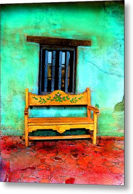 Mission Bench Metal Print by Timothy Bulone