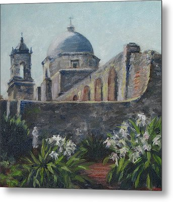 Mission Concepcion In San Antonio Metal Print
