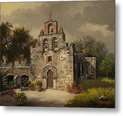 Metal Print featuring the painting Mission Espada by Kyle Wood