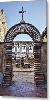 Mission Gate And Bells Metal Print