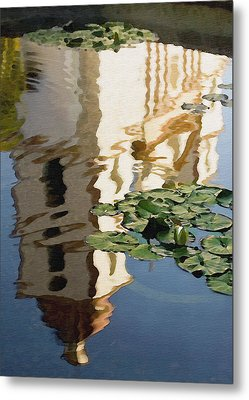 Mission Reflection Metal Print by Sharon Foster