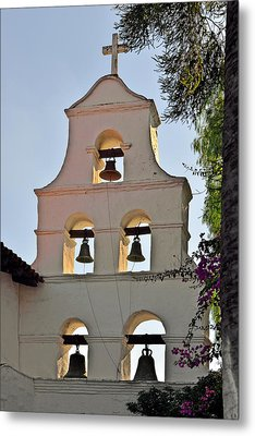 Metal Print featuring the photograph Mission San Diego De Alcala Bell Tower by Christine Till