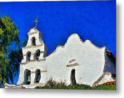 Metal Print featuring the photograph Mission San Diego De Alcala by Christine Till