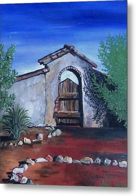 Metal Print featuring the painting Rustic Charm by Mary Ellen Frazee