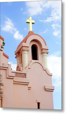 Mission San Rafael Parish Church Metal Print by Art Block Collections