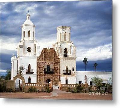 Mission San Xavier Del Bac Metal Print by Donna Greene