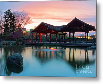 Mississauga Japanese Garden Metal Print by Charline Xia