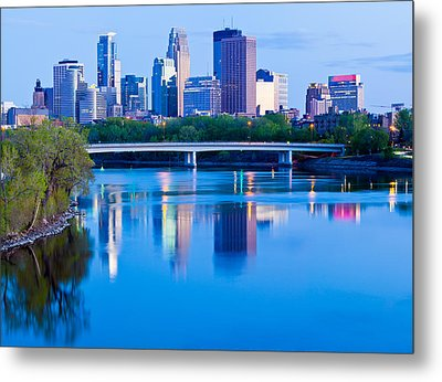 Mississippi And Minneapolis Metal Print