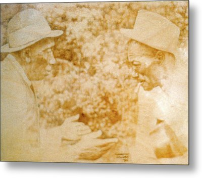 Mississippi John Hurt And Son House Metal Print by Lorraine Zaloom