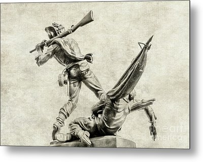 Mississippi Monument At Gettysburg Metal Print by Randy Steele