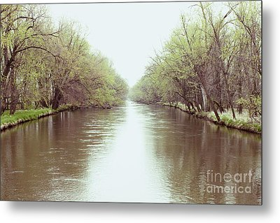 Mississippi North Backwater Metal Print by Heather Giebel