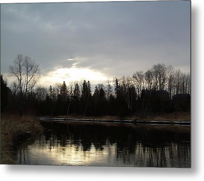 Metal Print featuring the photograph Mississippi River Dawn Clouds by Kent Lorentzen