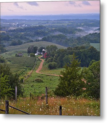 Mississippi River Valley 2 Metal Print by Bonfire Photography