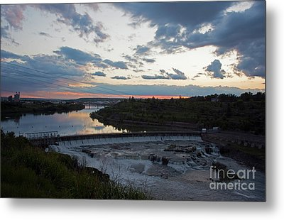 Missouri River Black Eagle Falls Mt Metal Print