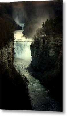 Mist And The Falls Metal Print