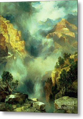 Mist In The Canyon Metal Print