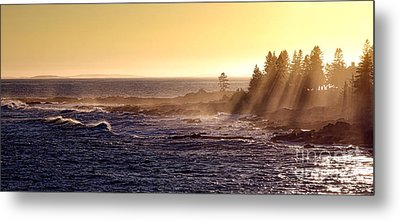Mist Off The Coast Of Maine Metal Print