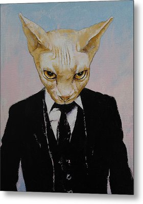 Mister Cat Metal Print by Michael Creese