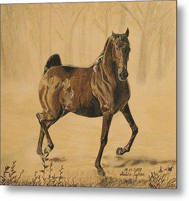 Mistical Horse Metal Print