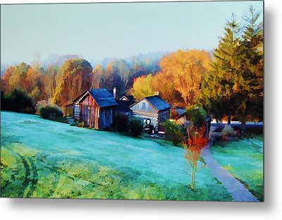 Metal Print featuring the photograph Misty Autumn Day by Diane Alexander