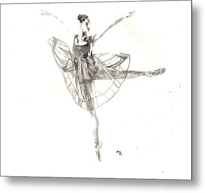 Misty Ballerina Dancer IIi Metal Print