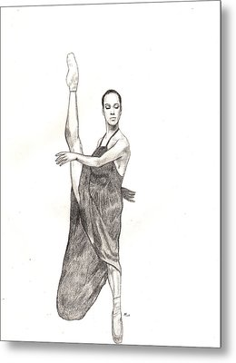 Misty Ballerina Dancer  Metal Print