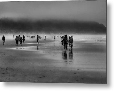 Misty Beach Metal Print by David Patterson