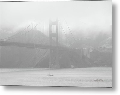 Misty Bridge Metal Print by Donna Blackhall