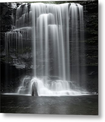 Misty Canyon Waterfall Metal Print by John Stephens