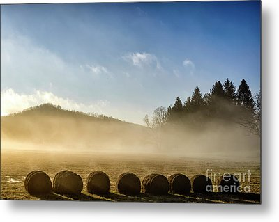 Metal Print featuring the photograph Misty Country Morning by Thomas R Fletcher